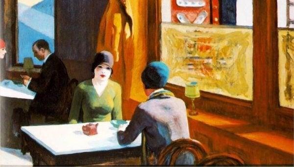 Chop Suey van Edward Hopper