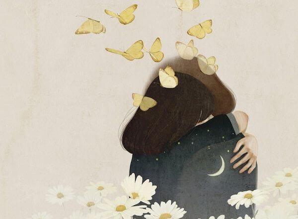 Twee mensen die elkaar omhelzen omdat ze droevig zijn