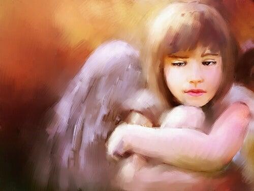 Een klein droevig engeltje
