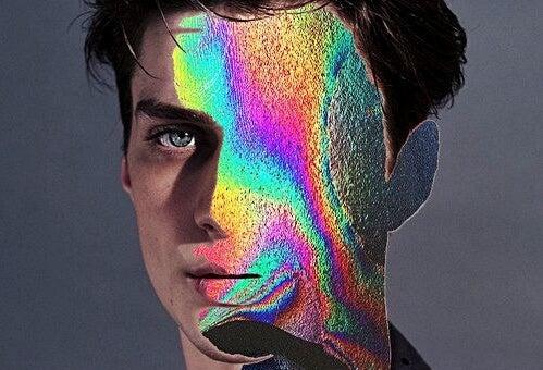 Jongen met glitter