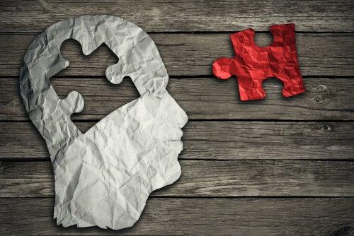 Hersenen puzzelstuk