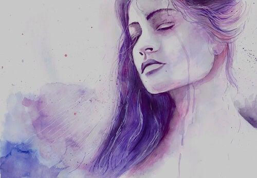 Vrouw die na het verlies van een dierbare niets anders kan dan huilen