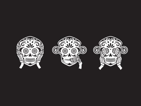 De drie wijze apen van de Toshogu schrijn