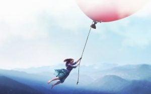 Meisje aan ballon