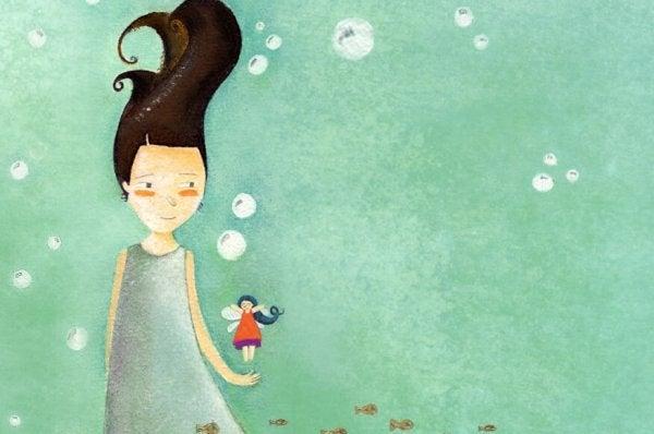 Meisje met een klein elfje