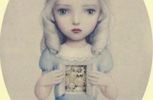 Meisje met tandwielen op de plek van haar hart, als symbool voor emotionele verwaarlozing