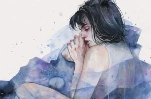 Meisje dat lijdt aan vrijzwevende angst