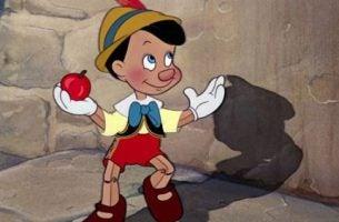 Afbeelding uit Pinokkio, een verhaal over het belang van onderwijs