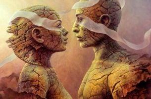 Stenen koppel leeft zich in elkaar in door middel van spiegelneuronen en empathie
