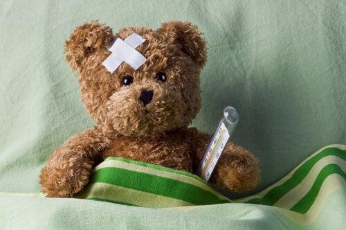 Zieke teddybeer