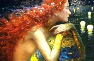 Vrouw met rood haar die de wereld vasthoudt, want ze weet: je moet naar jezelf luisteren om de wereld te kunnen begrijpen