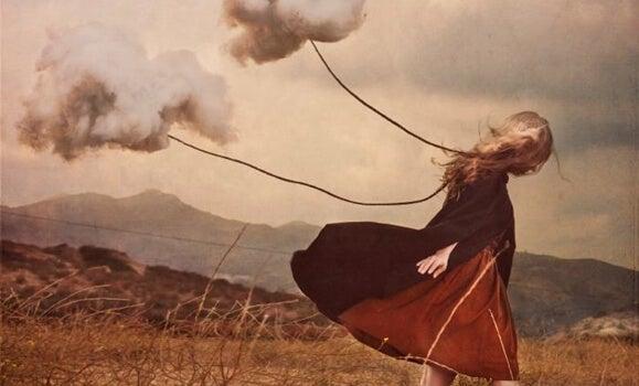 Een meisje dat depressie ervaart als gevolg van de afwezigheid van een geliefde