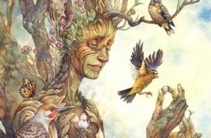 Afbeelding als symbool voor de wijsheid van bomen