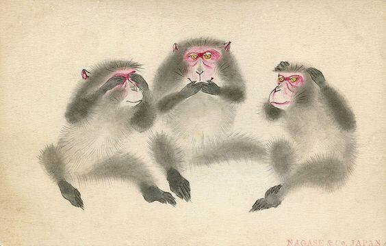 De les van de drie wijze apen van het Toshogu-schrijn