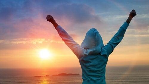 Vrouw die na veel doorzettingsvermogen haar doel heeft bereikt