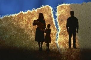Scheiding tussen twee ouders
