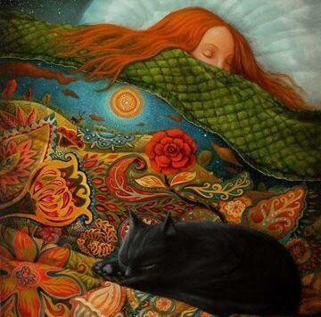 Slapende vrouw die weet: dankbaarheid is goed voor je nachtrust