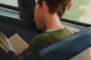 Vrouw die een boek leest, want de boeken die we lezen bepalen wie we zijn