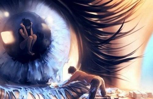 Huilend oog, want kwaad overwint als goede mensen niets doen