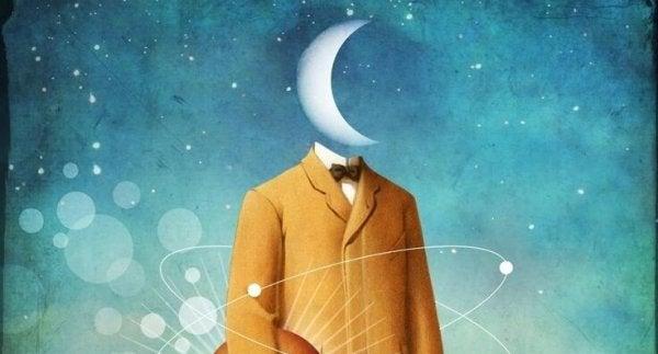 Man met maan als hoofd