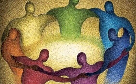 Mensen in een kring