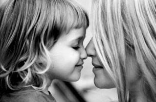 Moeder met haar kind, maar het is geen slechte moeder