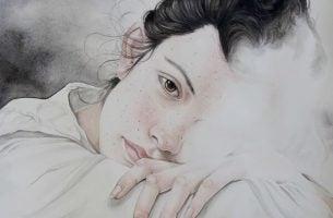 Meisje wiens emotionele geremdheid problemen veroorzaakt