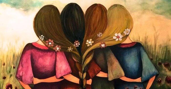 Vier vrouwen verbonden door zusterschap