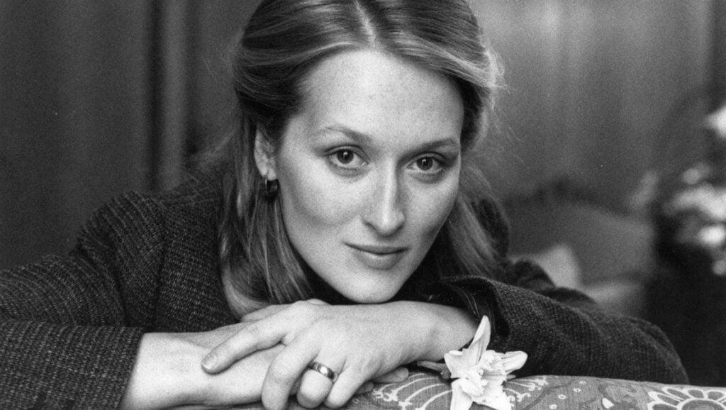 Zwart-wit foto van Meryl Streep