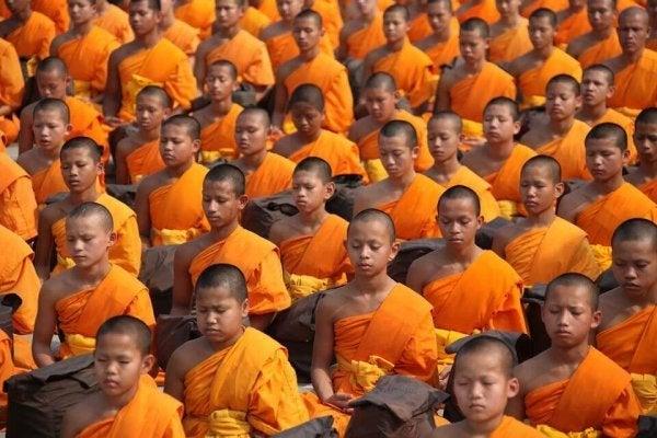 Boeddhistische die elkaars sociale identiteit bepalen