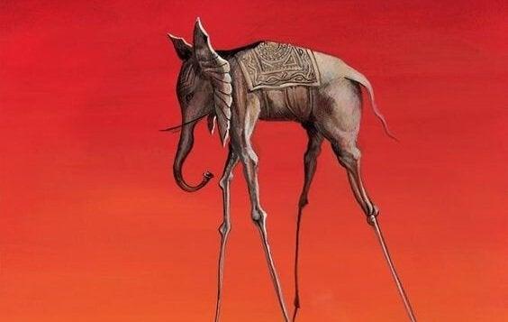 Olifant op stelten van Salvador Dali