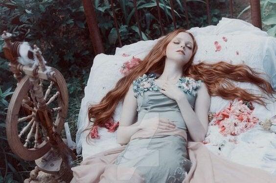 Doornroosje in haar slaap