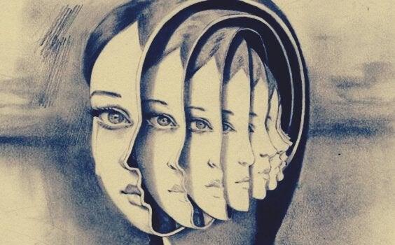 Het gezicht van een meisje vanuit meerdere hoeken