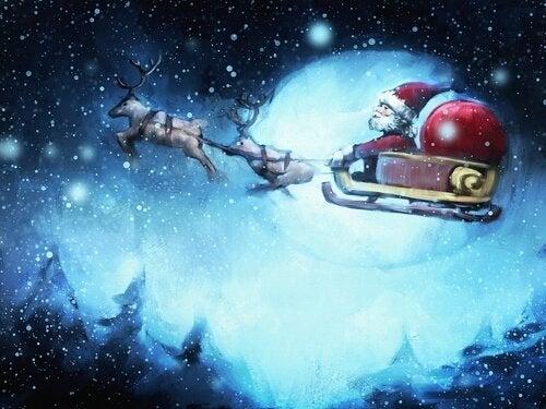 De Kerstman in zijn slee