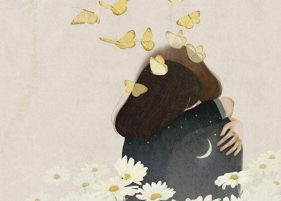 Compassie in de vorm van een knuffel