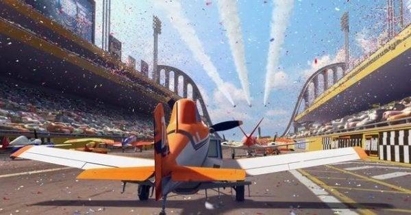 Afbeelding uit de film Planes, een film over overwinnen