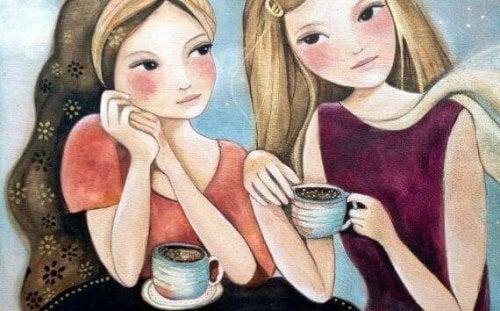 Twee vriendinnen delen bijzondere momenten