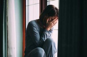 Vrouw met aanpassingsstoornis