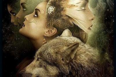 Vrouw met wolf