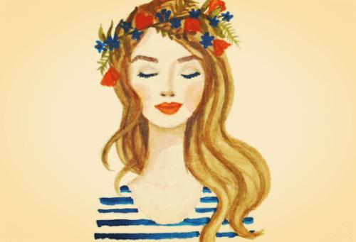 Mooi meisje, maar uiterlijke schoonheid is minder waard dan iemand innerlijke schoonheid
