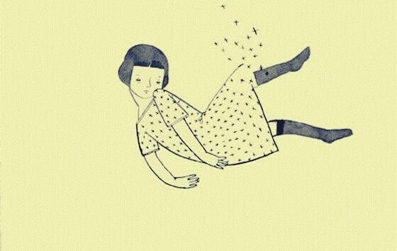 Zwevend meisje