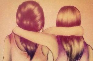 Betrouwbare mensen die elkaar omhelzen