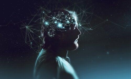 Allerlei verbindingen in het bewustzijn van een man