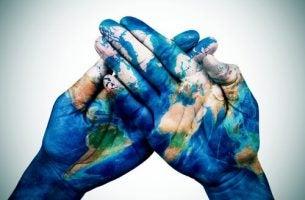 Handen waar de wereld op is geschilderd, als inleiding tot culturele psychologie