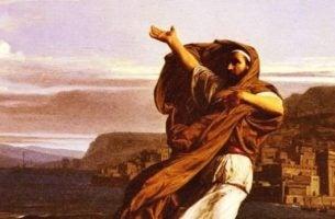 Demosthenes houdt speech
