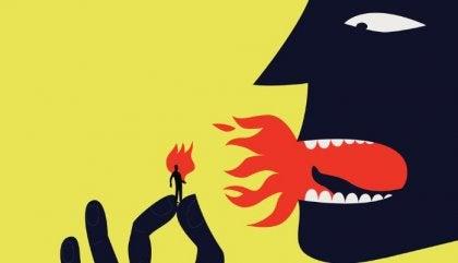 Giftige baas die vuur spuwt