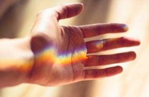 Hand in licht