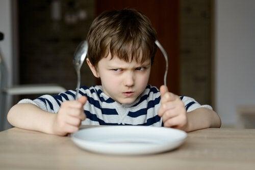 Kind met kleine keizer-syndroom wil niet eten