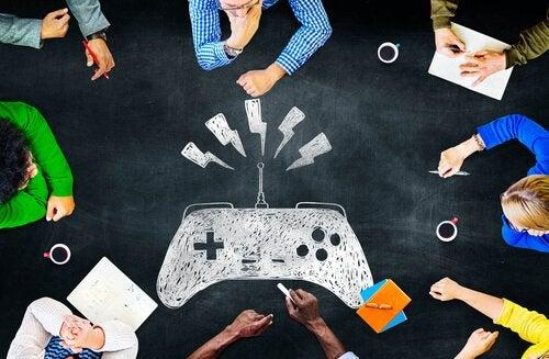 Mensen spelen videogames