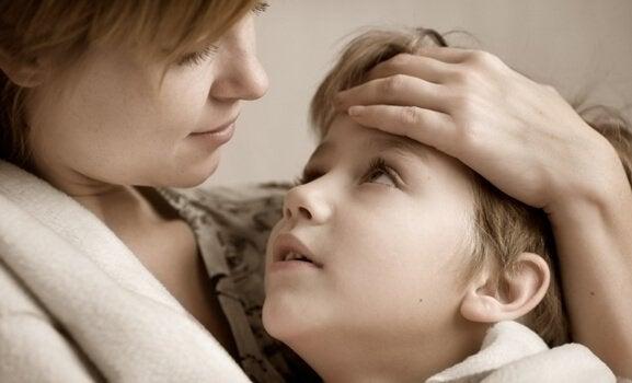 Moeder wil haar kinderen beschermen